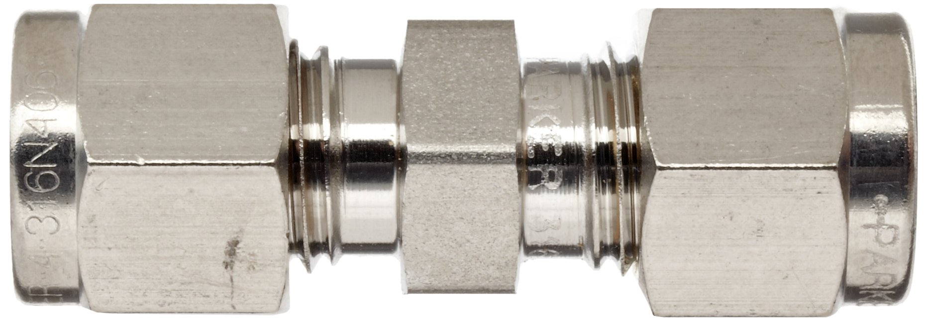 Parker 4SC4-316 316 Stainless Steel A-LOK Union 1/4'' Compression Fitting 1/4'' Compression by Parker (Image #3)