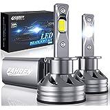 Fahren H1 LED Headlight Bulb, 60W 10000 Lumens Super Bright LED Headlights Conversion Kit 6500K Cool White IP68 Waterproof, P