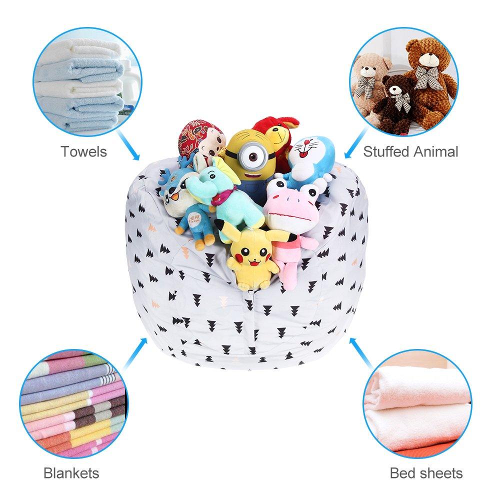 WOYAGE Stuffed Animal Bean Bag Storage Chair | Stuffed Animal Storage Sack |Stuff n Sit Kids\' Furniture | Childrens Bean Bag Chairs (Xmas Tree, XL)