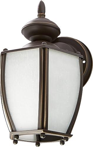 Progress Lighting P5766-20 Traditional One Light Wall Lantern from Roman Coach Collection Dark Finish, Antique Bronze