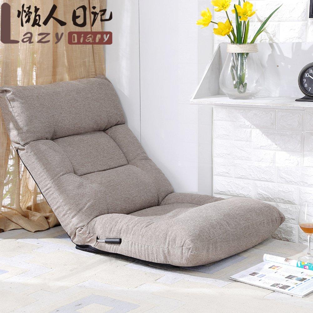 QIQ Tatami Sofa,Ziehen Sie Rod Faltbare Faul Kissen Bett Schlafsaal Stuhl Lounge Chair Bay Fenster-Freizeit-Stuhl