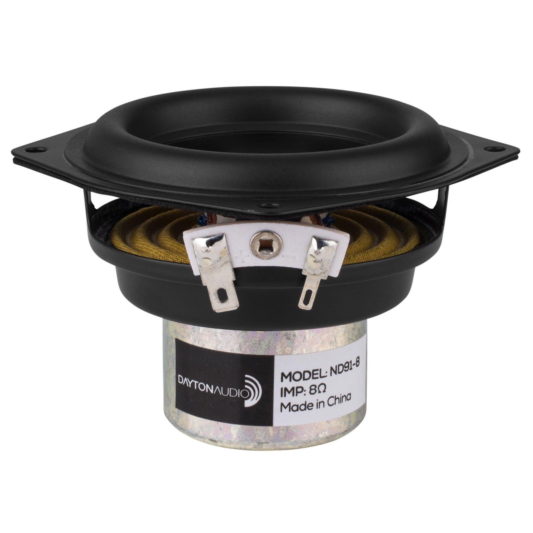 Dayton Audio ND91-8 3-1/2'' Aluminum Cone Full-Range Driver 8 Ohm