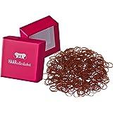 Pelo Todos los liebst 250Gomas del Pelo Mini Marrón 10mm en Rosa Caja