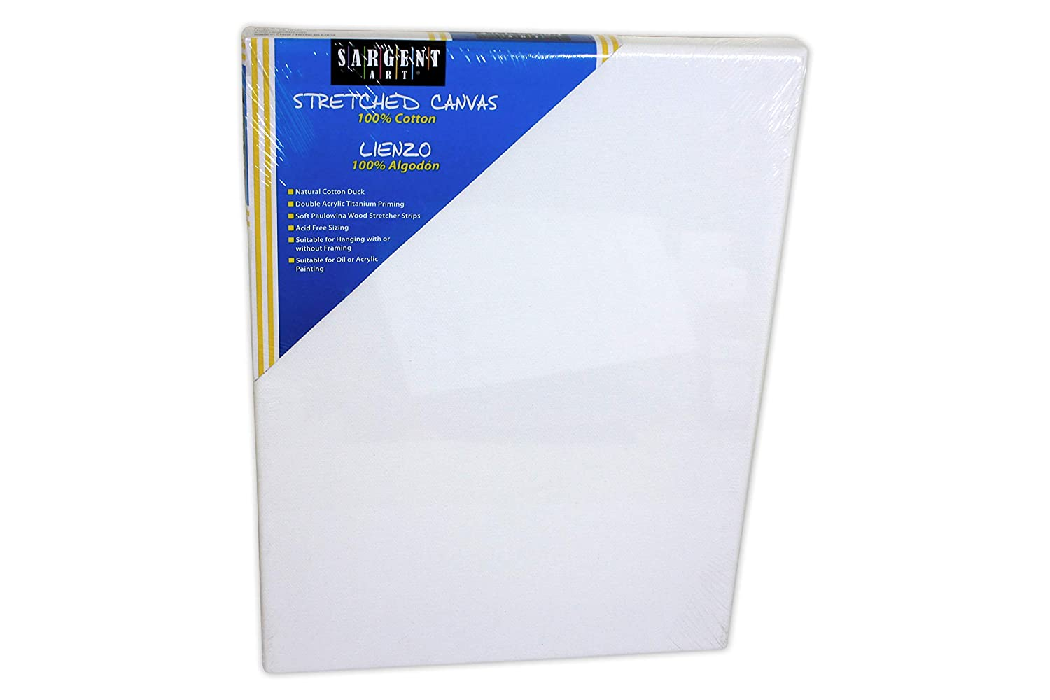 Sargent Art 90-2008 20x30-Inch Stretched Canvas 100/% Cotton Double Primed