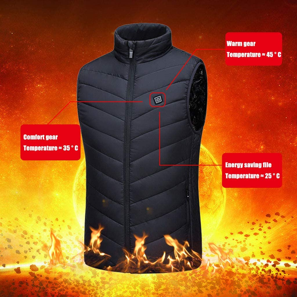 Heated Jacket for Men Women, Vest Adjustable Electric Warm Clothing for Hiking Riding Skiing Outdoor【NO Battery】 at  Men's Clothing store