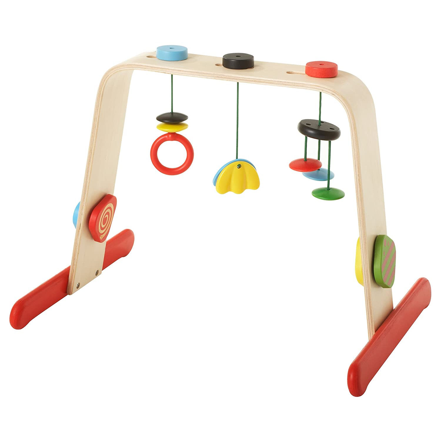 Symboat Baby Activity Playing Fitness Equipment Wooden Pull Ring Frame Multi-Stand Toddler Educational Toy