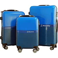 Discovery Smart Classy Tracker Chip Luggage Trolley Bag, Blue