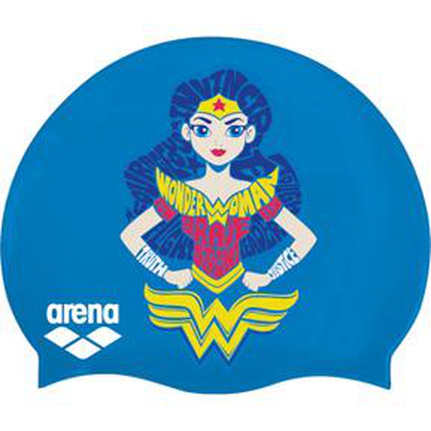 Arna Super Hero Cap JR cuffia blu/bianco wonder woman, Blau/Weiß, Taglia unica
