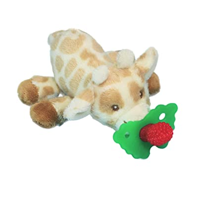 RaZbaby RaZbuddy RaZberry Teether/Pacifier Holder w/Removable Baby Teether Toy - 0M+ - Bpa Free - Giraffe : Baby