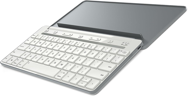 Microsoft P2Z-00029 Bluetooth Gris, Blanco Teclado para móvil - Teclados para móviles (Gris, Blanco, Mini, Universal, Batería, 180 día(s), 300 mAh)