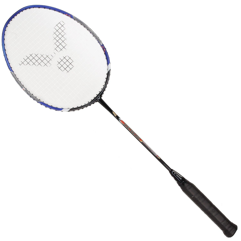 f940c6c1608 Victor V-3700 Magan Graphite Badminton Racquet - Black Blue - 89g  Amazon.co .uk  Sports   Outdoors