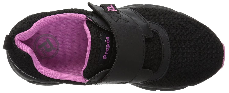 Propét Women's Stability X Strap Sneaker B071W79SST 13 4E US Black/Berry