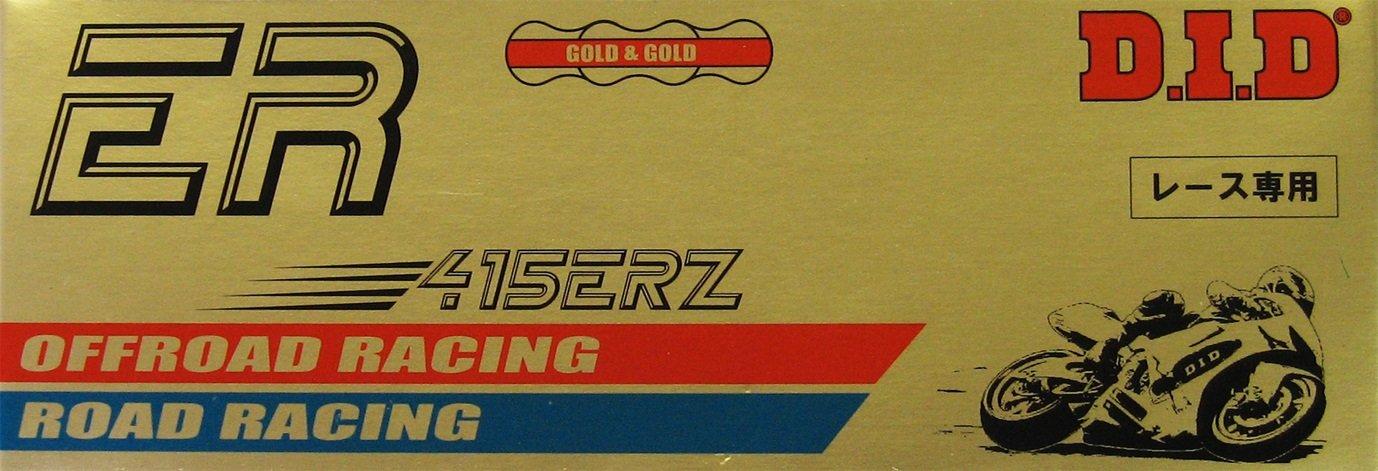 DID Kette 415 ERZ, 116 Glieder (Standard gold), offen mit Clipschloss Daido Kogyo Co. LTD. 415ERZGGX116RB