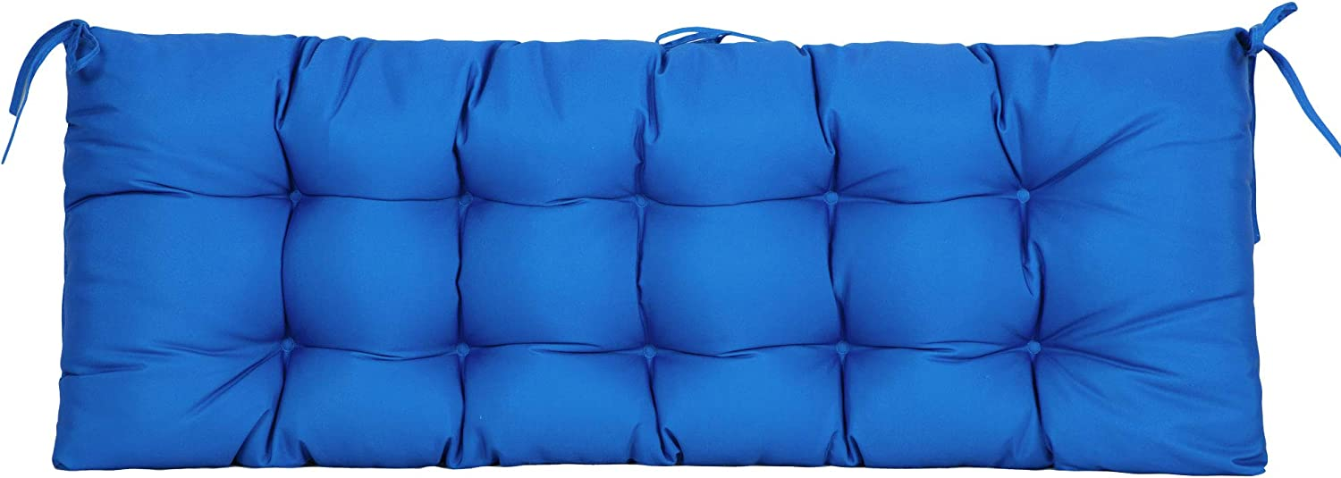 ARTPLAN Outdoor Cushions Patio Bench Settee Loveseat Tufted Pillow of Wicker Patio Furniture for All Weather