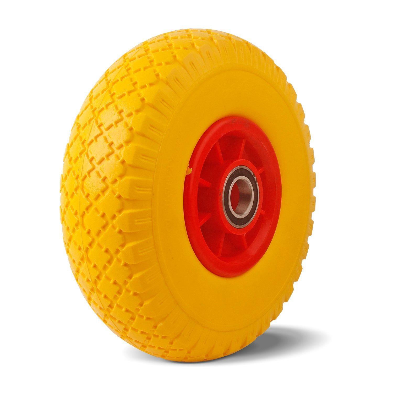 YAOBLUESEA Puncture Proof Wheel Solid Rubber Wheels PU Wheel 3.00-4 Wheelbarrow Wheel 260 mm