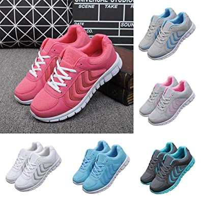 a7929fd1ad3eb WliYaGgFashion Women Men Summer Sneakers Breathable Mesh Running Travel Sports  Shoes - Rose Red 41  Amazon.co.uk  Shoes   Bags