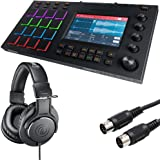 "Akai Professional MPC Touch | Music Production Station with 7"" Multi-Color Touchscreen + Professional Headphones + Hosa MID-305 Black MIDI Cable, 5 feet - Top Value Bundle"