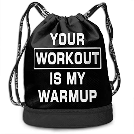 88d01590cc0e Image Unavailable. Image not available for. Color  IILJG Your Workout is My  Warmup Drawstring Backpack