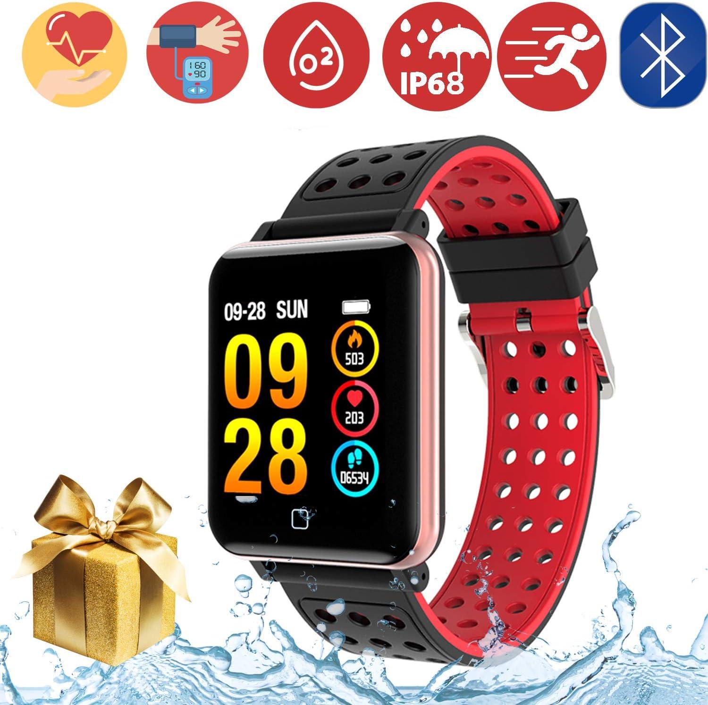 Smartwatch Fitness Tracker -1.3'' Reloj Inteligente IP67 Impermeable con Podómetro Pulsómetro Presión Sanguínea Calorías Actividad Monitor para Hombre Mujer Compatibles Android y iOS,Oro Rosa