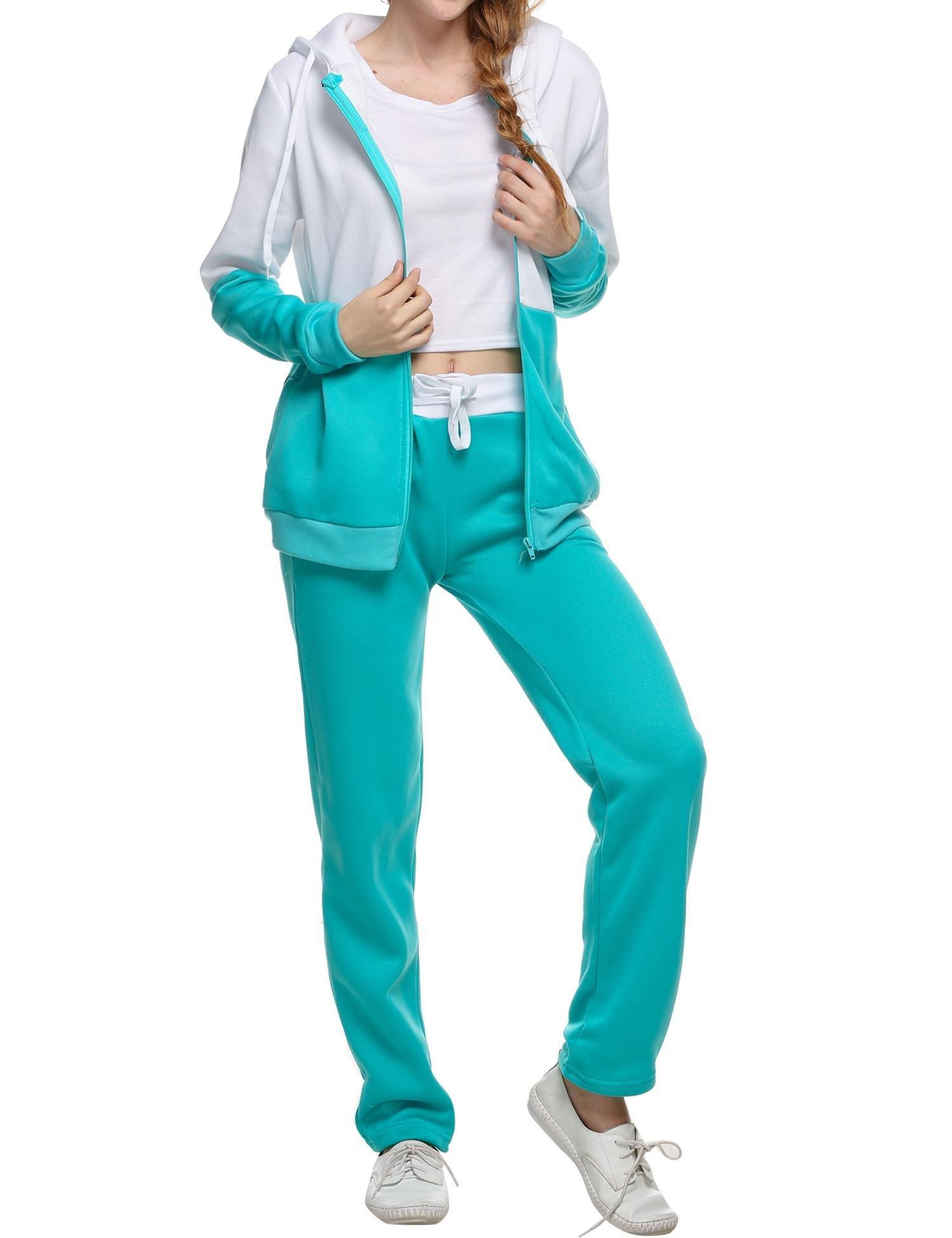 cindere Tracksuit For Women Two Piece Zip-up Sports Suit Hoodies Sweatshirt With Sweatpants