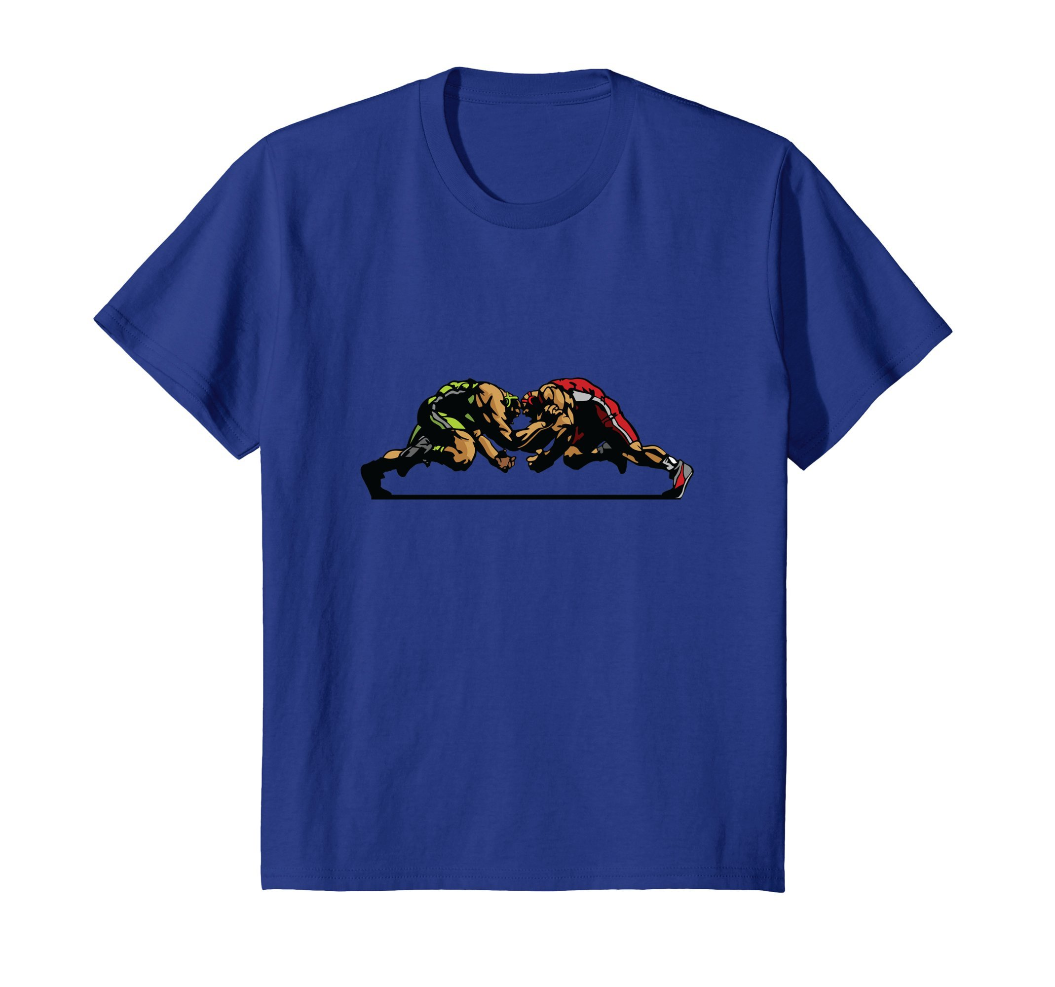 Kids Wrestling shirt 8 Royal Blue by McPhoto