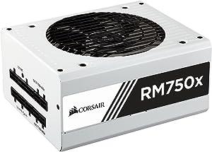 CORSAIR RMX White Series, RM750x, 750 Watt, 80+ Gold Certified, Fully Modular Power Supply- White