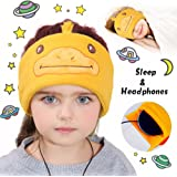 Kids Sleep Headphones Headband AMENON Earmuffs Wired On/Over Headphone Sleep Mask Cover Adjustable Soft Fleece Ear Warmers Headband and Protection for Girls Boys Easter Home Sports Travel Gifts