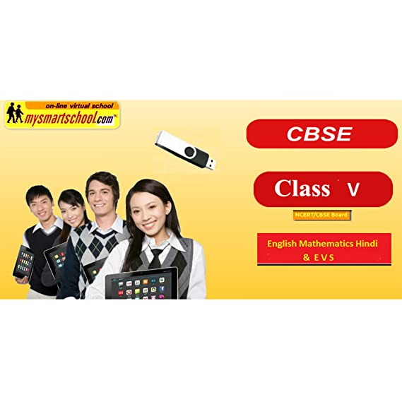 Class 5th CBSE USB Pendrive Course (Engilsh Maths Hindi Evs) with