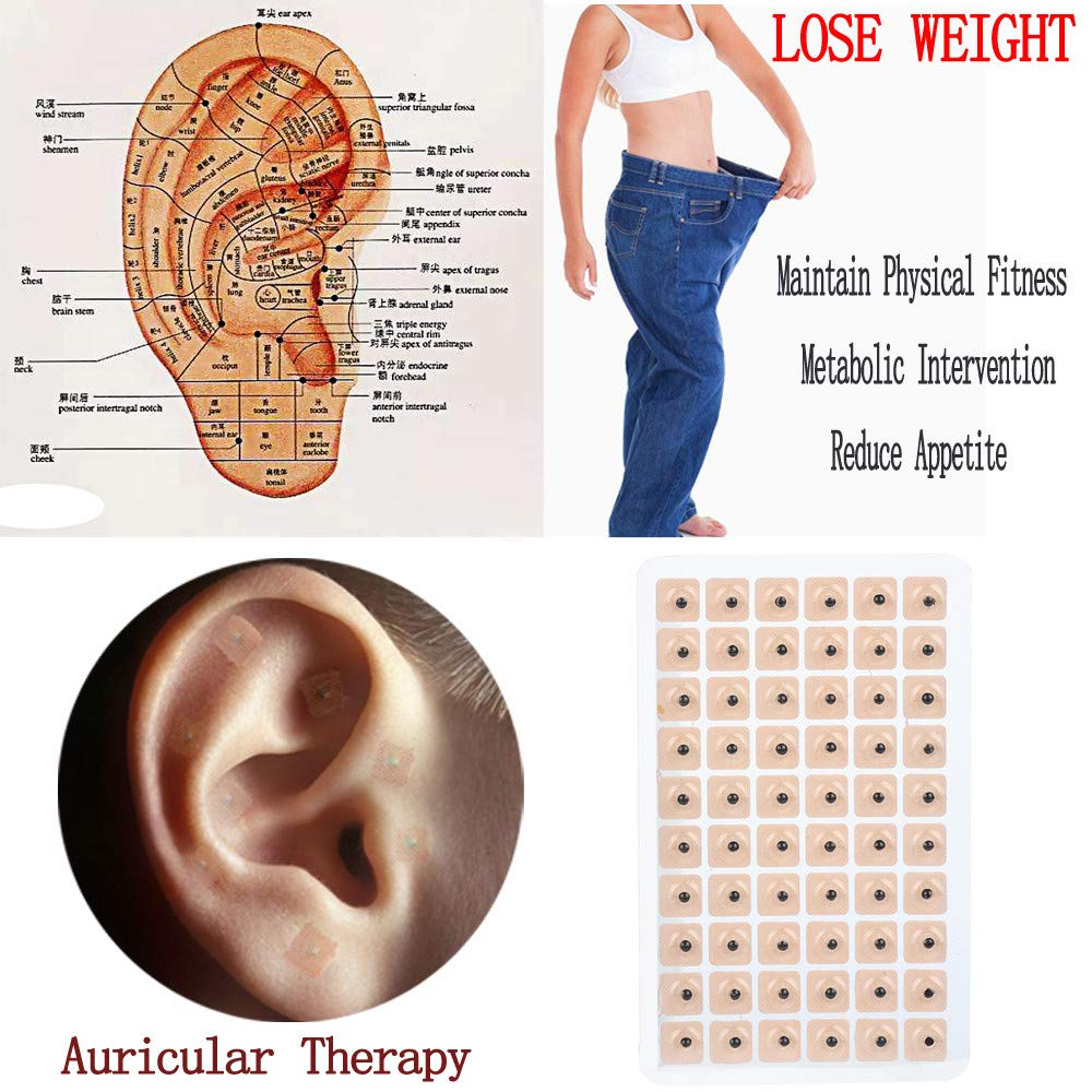 Ecosin 300 Pcs Magnetic Therapy Ear Patch Auricular Auriculotherapy Acupuncture Seeds Paste Sticker