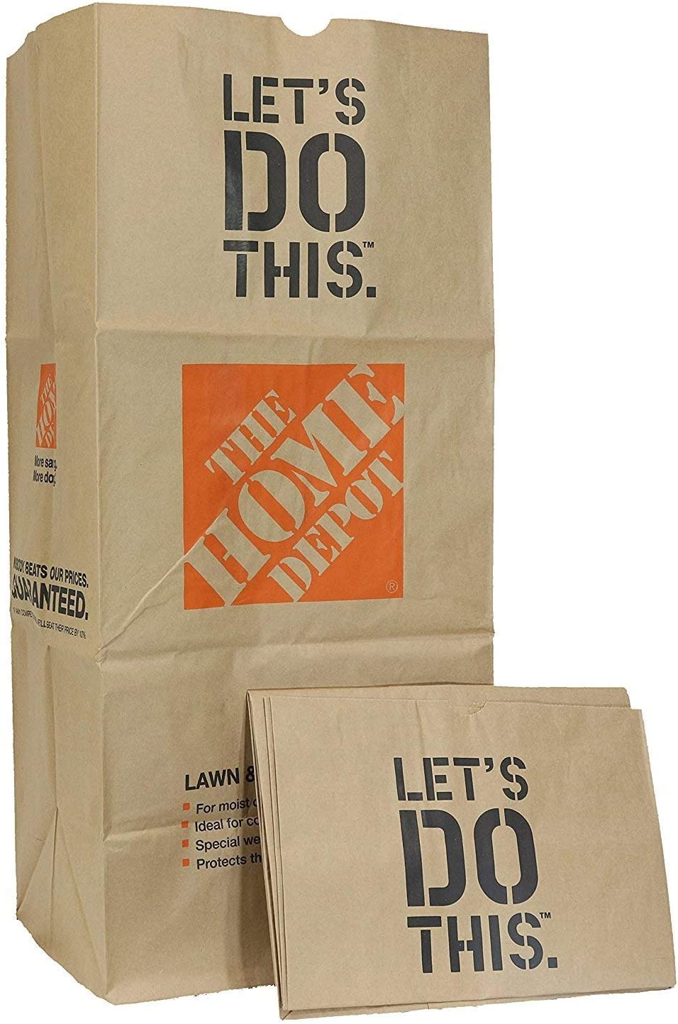 The Home Depot Heavy Duty Brown Paper Lawn and Refuse Bags for Home and Garden, 30 gal (1 Pack of 5 Bags)