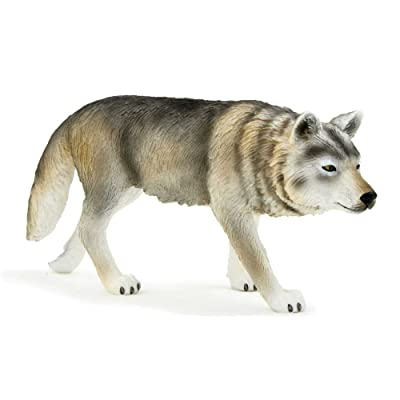 MOJO Timber Wolf Walking Toy Figure: Toys & Games