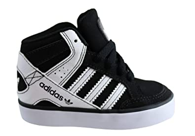 357e717df68b adidas Toddler Hardcourt Block Shoes 4K M US Black White