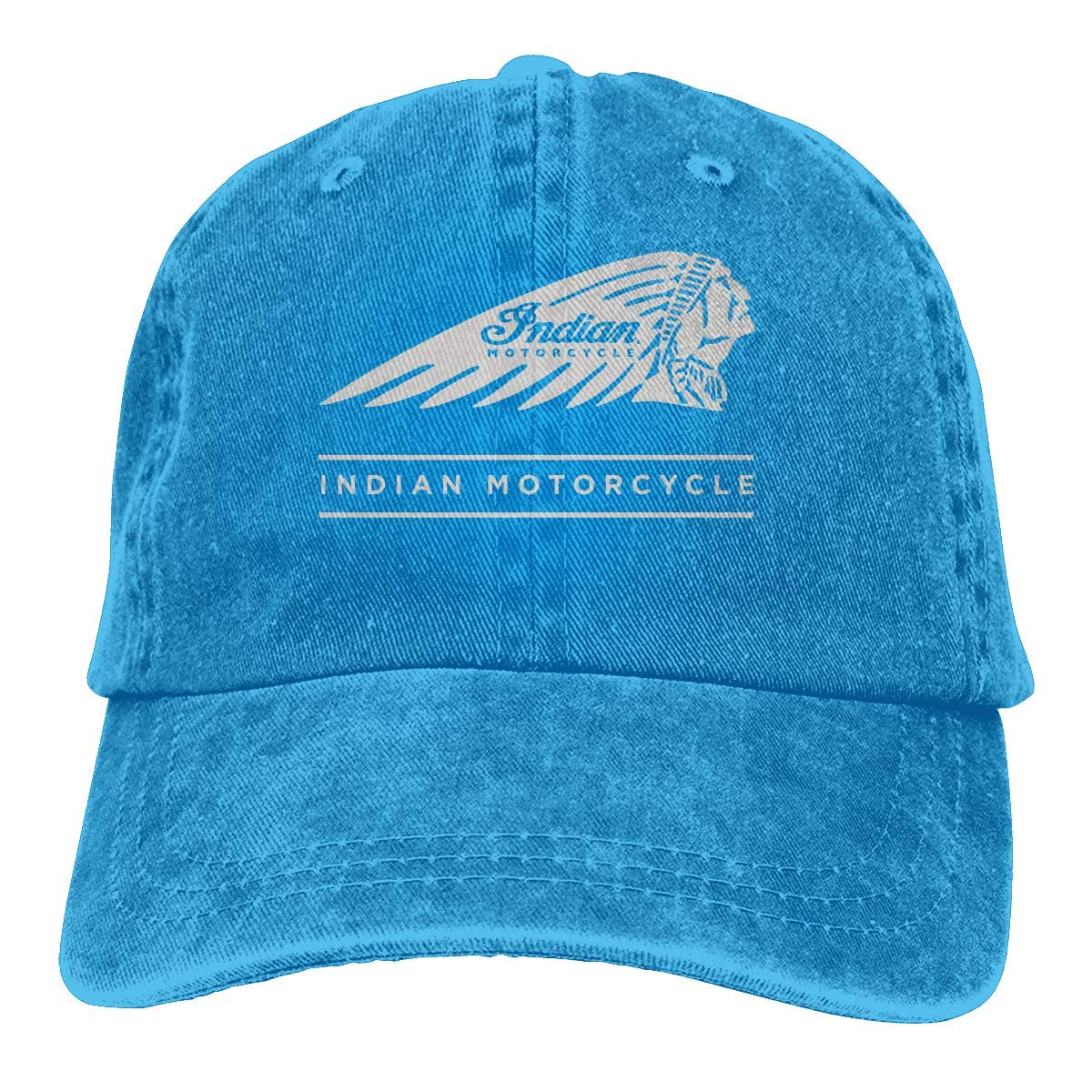 Unisex Adults Vintage Washed Baseball Cap Adjustable Dad Hat - Baorol Indian Motorcycle Adjustable Baseball Washed Cap Black