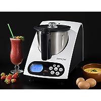 Superchef Robot de Cocina VA1500 Cook&MIx, 1100w+500w, jarra de 2 litros de capacidad real, 10 velocidades, de 40º a…