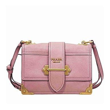 1745b7405e07 best price prada cahier leather bag a0169 b5af7  official prada womens  glace cahier small calf shoulder bag pink 937da e27e5