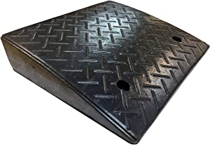 "Electriduct 4.3"" Heavy Duty Rubber Curb Ramp 20,000 lbs Weight Capacity (10 Tons)"