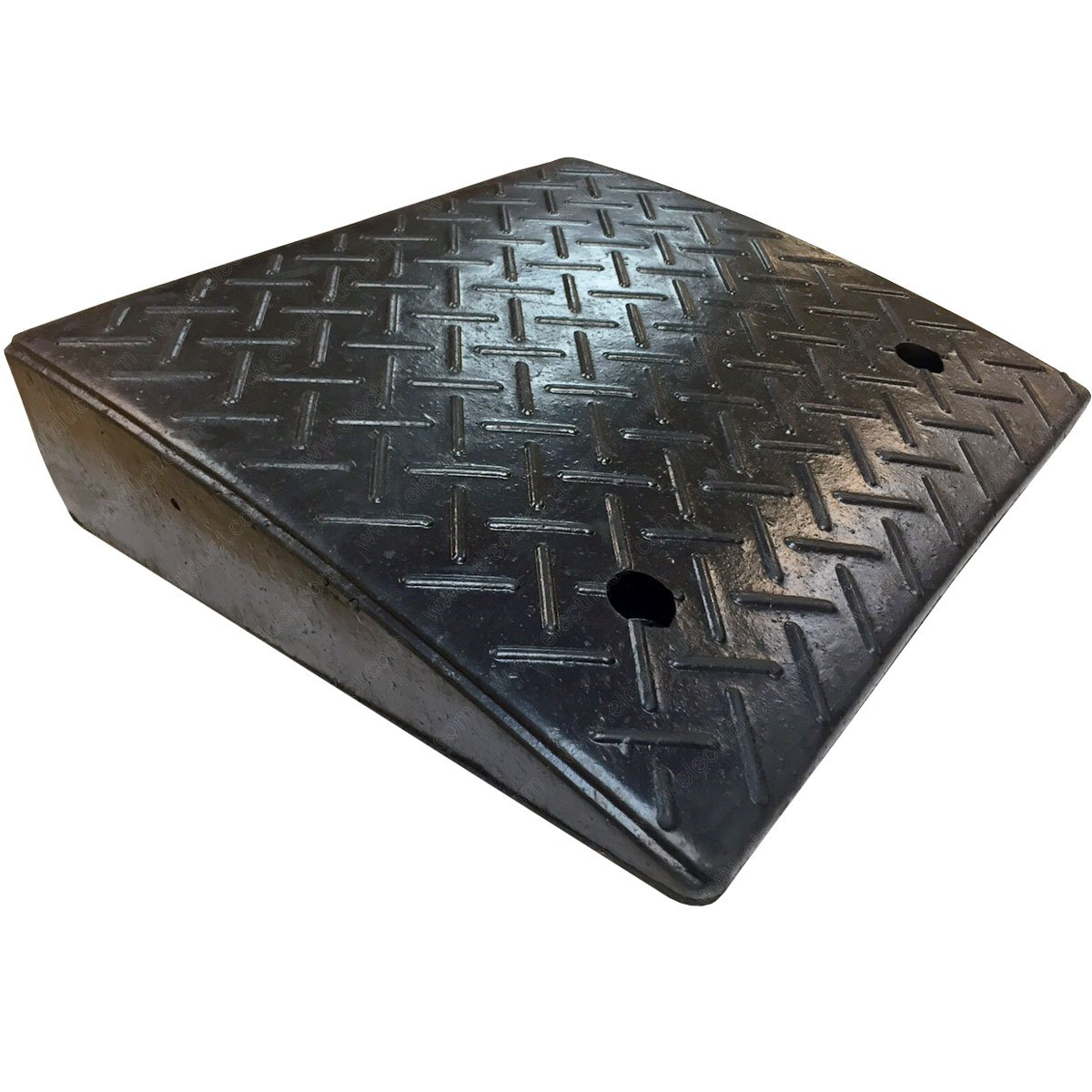 """Electriduct 4.3"""" Heavy Duty Rubber Curb Ramp 20,000 lbs Weight Capacity (2-Pack)"""
