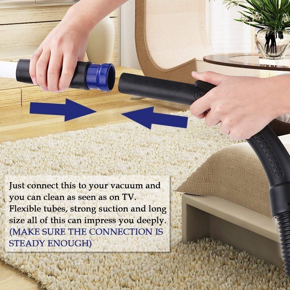 LifeHelper Duster Cleaning Tool, Universal Vacuum Dusty Brush Pro Cleaner Accessories,Tiny Cleaning Sweeper VAC Attachment Drit Remover Tools, Compatible with V6 V8 V7 V10 by LifeHelper
