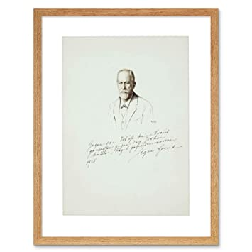 Amazoncom Sigmund Freud Signed Psychoanalysis Art Frame Print