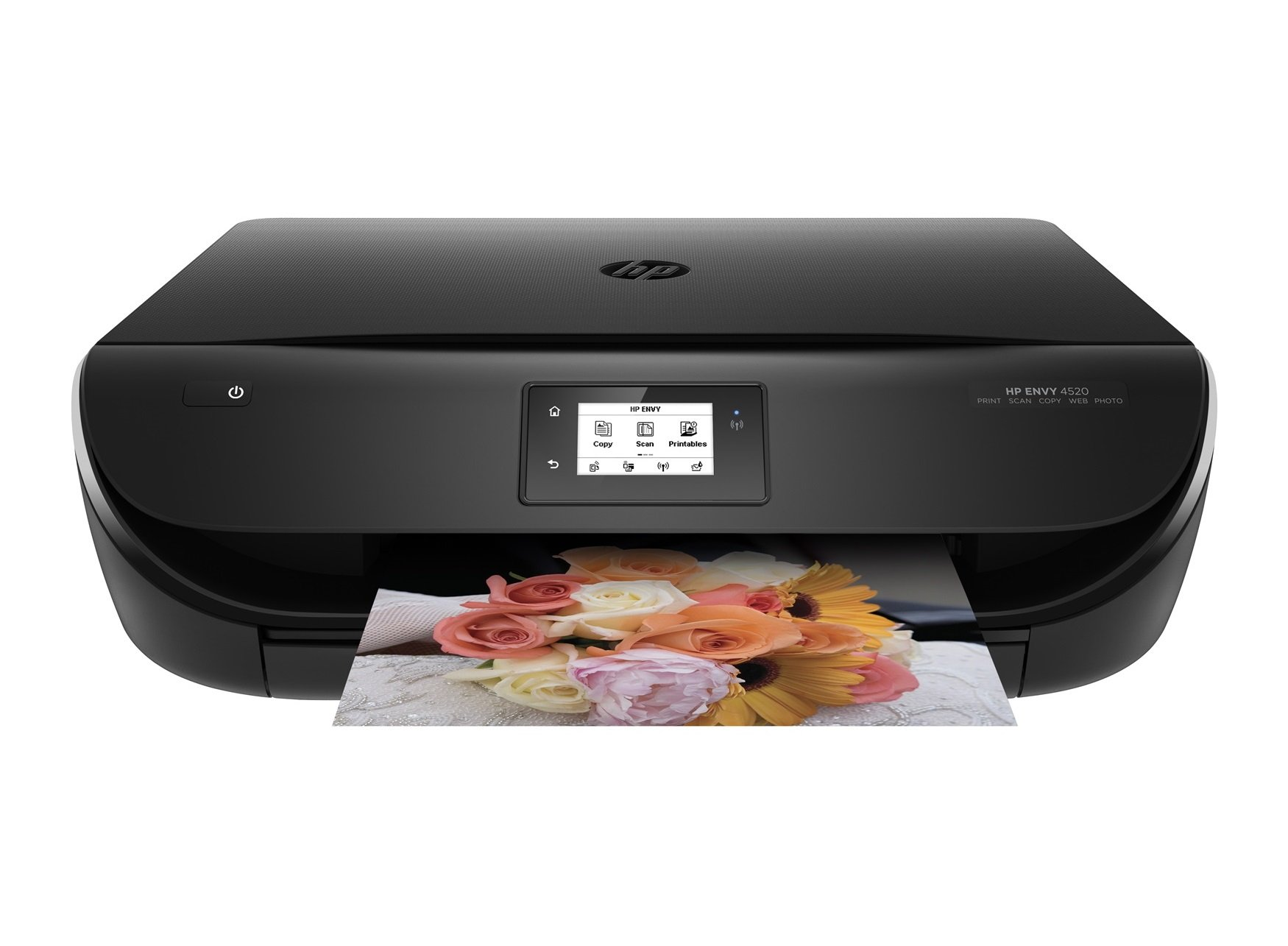 HP Envy 4520 Wireless All-in-One Photo Printer with Mobile Printing, Standard Ink Included, in Black (Certified Refurbished)