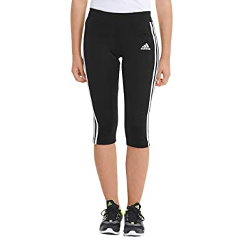 adidas Mädchen Training 34 Tight 3 Hose BlackMsilve 170