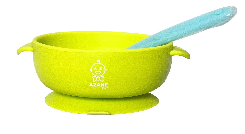 ideal desde 4 meses! platos con ventosa de silicona y babero Set de alimentaci/ón para beb/és cuchara y biber/ón de cuchara.F/ácil de limpiar