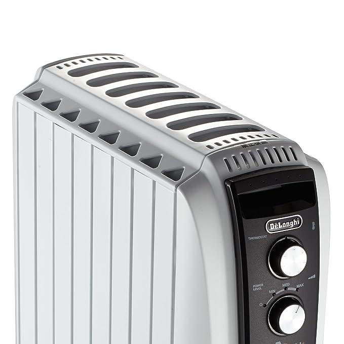 DeLonghi 4 del dragón del radiador de aceite Lleno de temporizador TRD4 0820T, 2 KW - Blanco (Producto con enchufe de UK): Amazon.es: Hogar