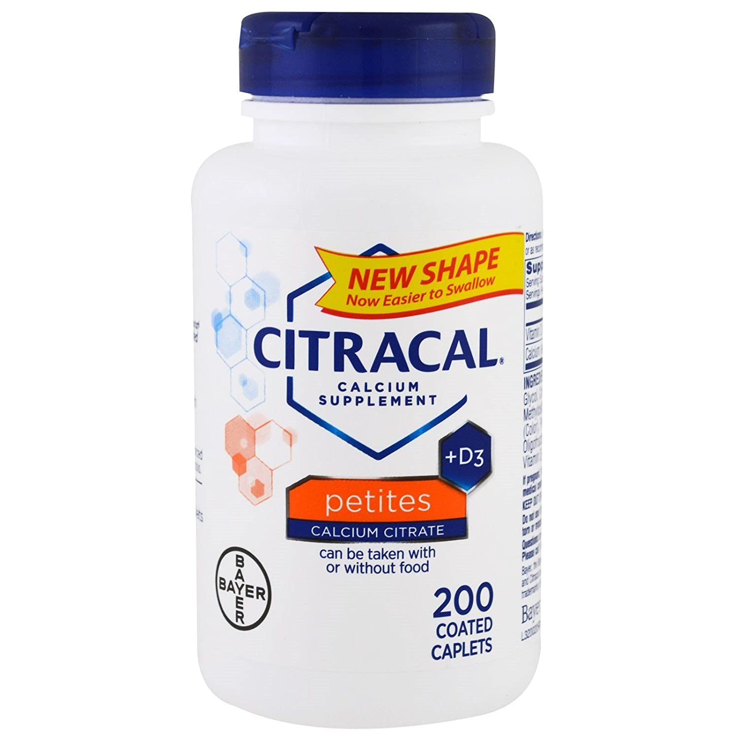 Citracal Calcium Citrate + D3 Petites Tablets - 200 ct, Pack of 4