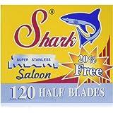 120 Shark Super Stainless Straight Edge Barber Razor Blades for Professional Barber Razors