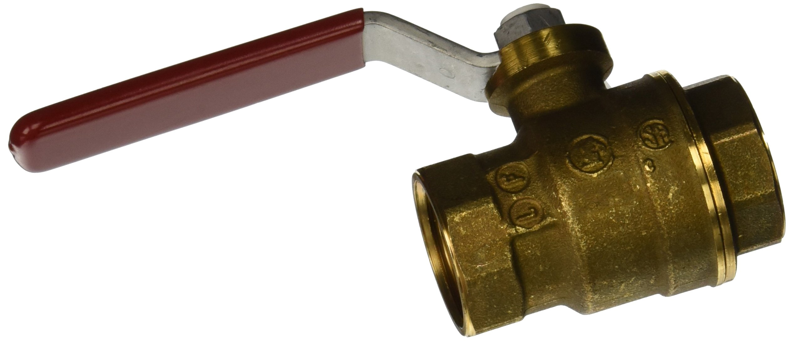 Mueller 107-404NL Threaded No Lead Full Port Ball Valve, 3/4-Inch