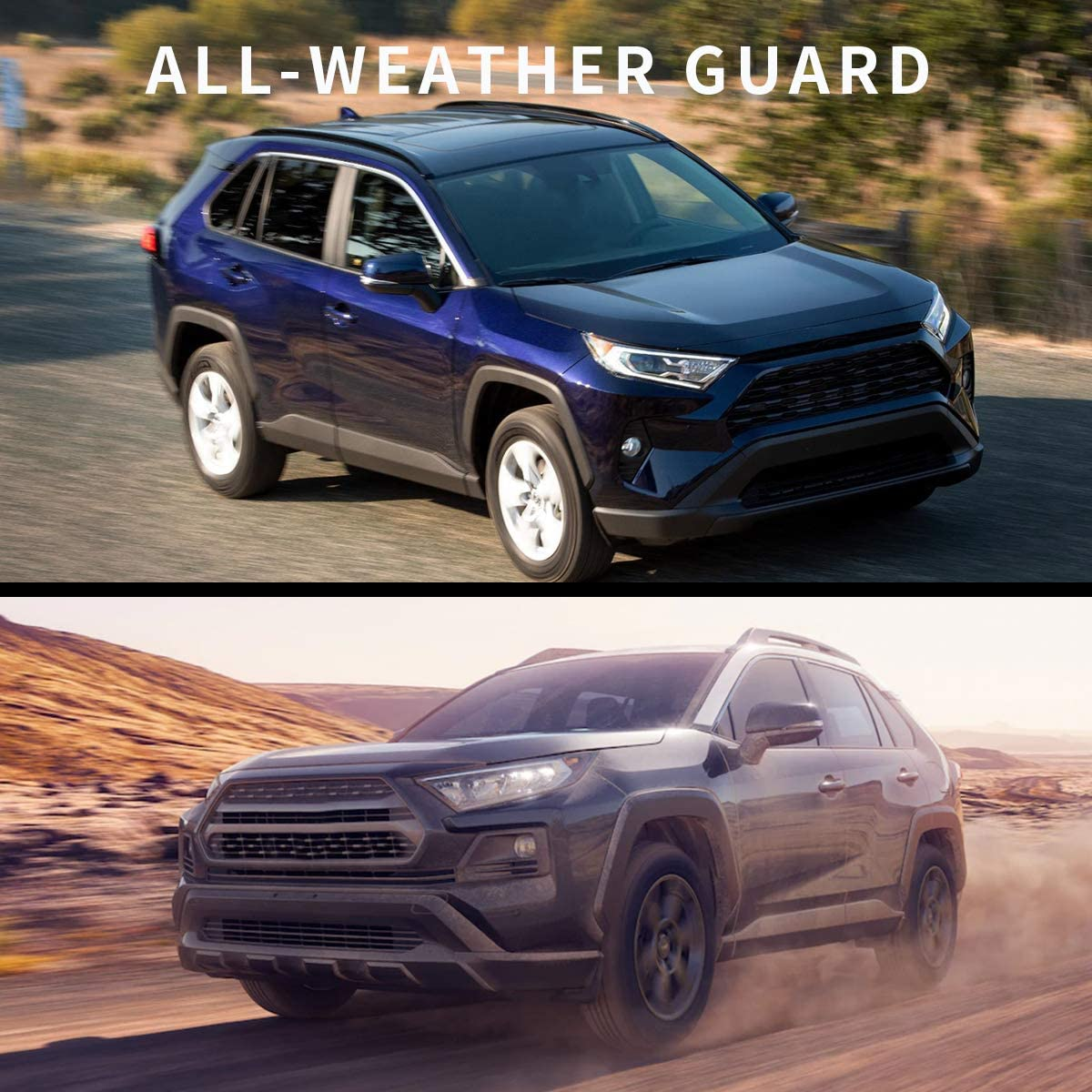 Unique Black TPE All-Weather Guard Includes 1st and 2nd Row Full Set Liners oEdRo Floor Mats Compatible with 2019-2020 Toyota RAV4