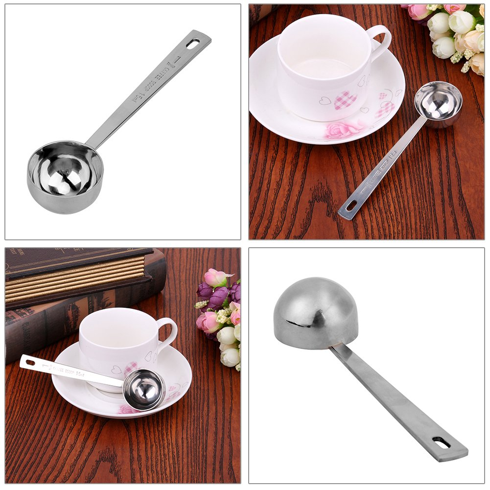 matefield 15 ml/30mlコーヒースクープ厚み付けステンレススチールテーブルスプーンMeasuring Spoon 15ML Matefield 15ML  B07F1JK1G2