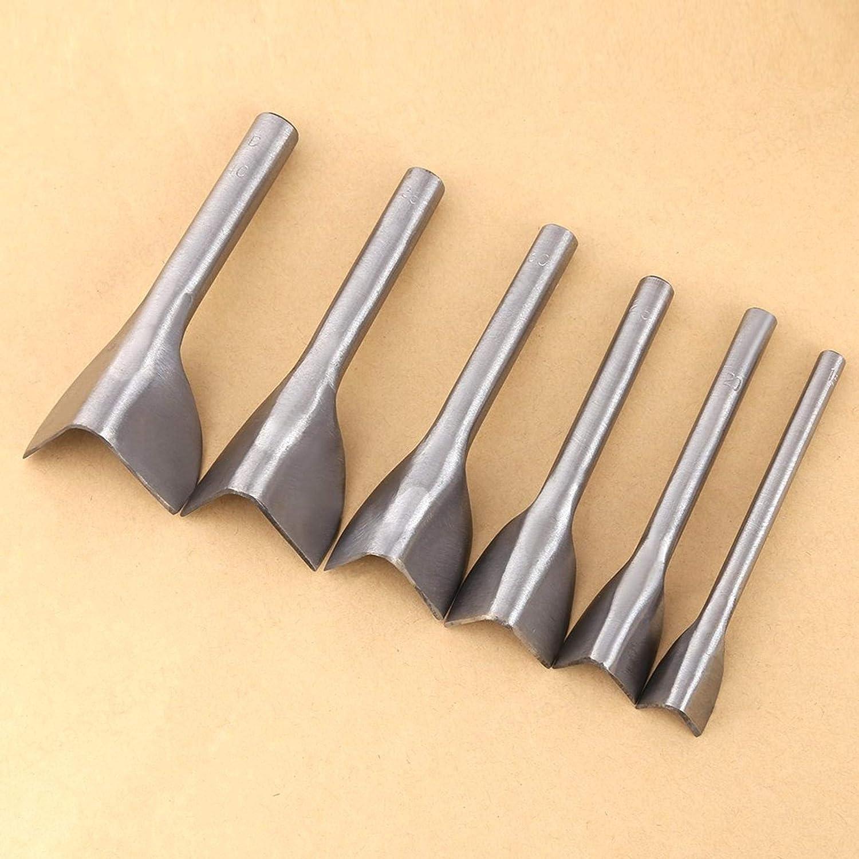 ALONGB Coup de Poing en Forme de V 6pcs // Set 15-40mm Bricolage en Cuir Bricolage Coupeur de Ceinture de poin/çon en Forme de V pour la Couture en Cuir /à la Maison