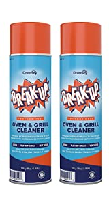 Diversey Break-Up Professional Oven & Grill Cleaner, Aerosol, 19 oz. (2 Pack) (2)
